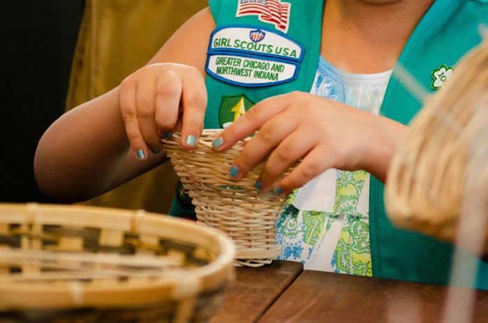Queen's College - girl scout basket weaving