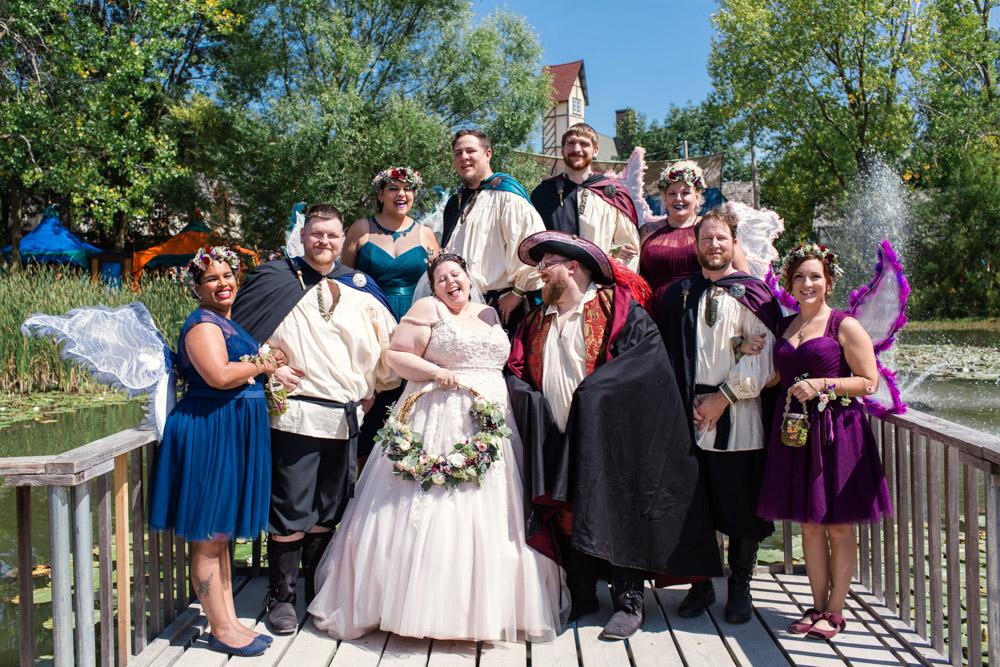 bridal party fairy wedding Lake Elizabeth