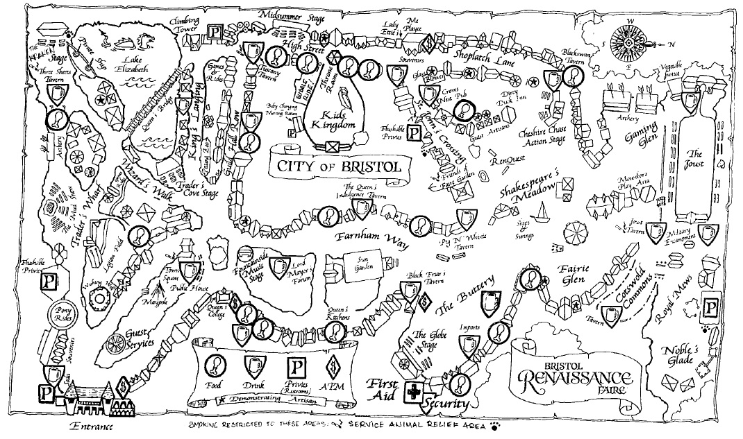 Map of the interior of the Faire