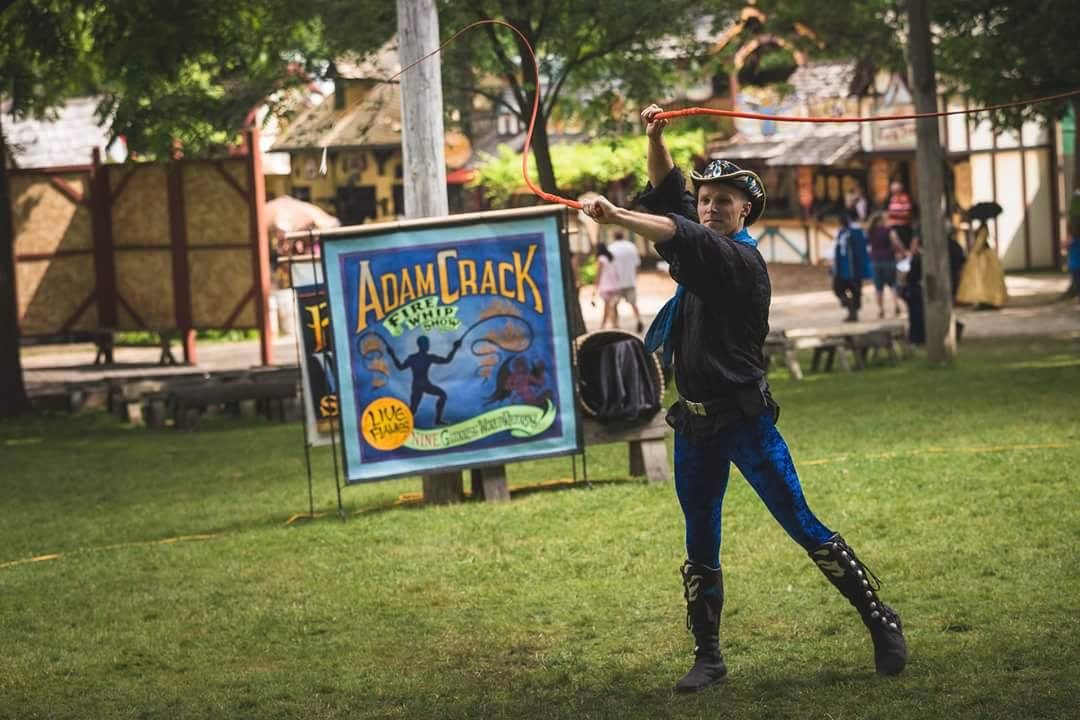 Entertainment: Adam Crack fire whip artist