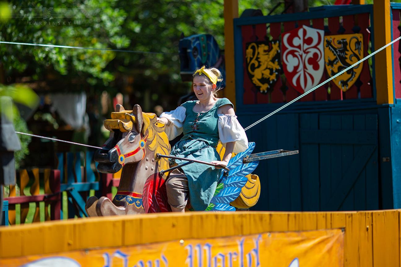 Ride: Giant Dueling Horse Slide