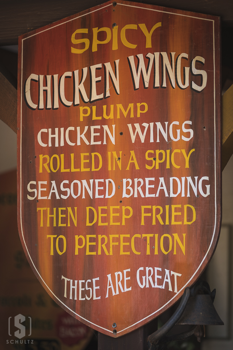 chicken wing sign