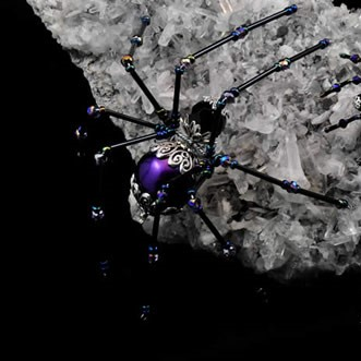 Twisted Spider bead gem dice wire figure Merchant Vendor Shopping Marketplace