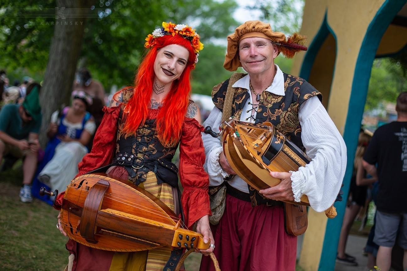 Entertainment: Manticore Consort hurdy gurdy musicians