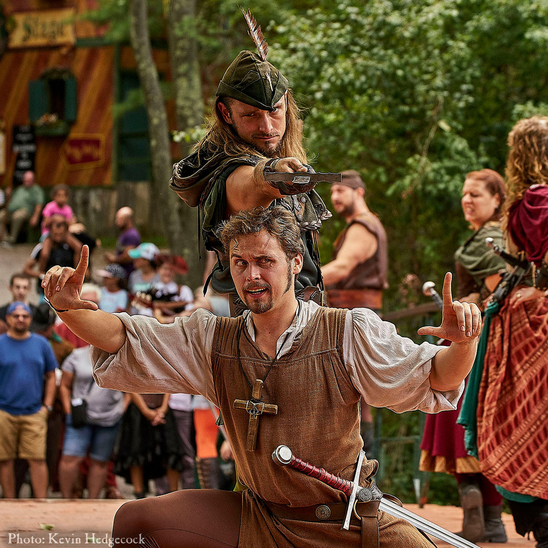 Audition: Robin and Friar Tuck stage combat fight cast New York Renaissance Faire