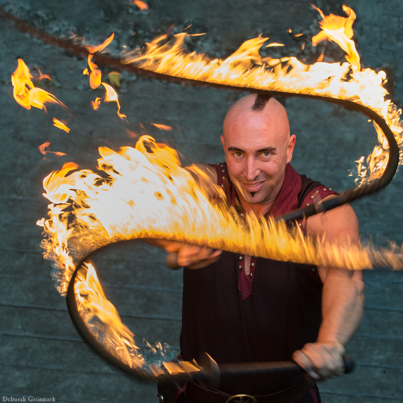 Entertainment: Aaron Bonk fire whip artist