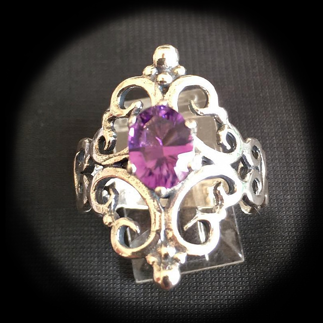 Artisan Marketplace Shopping: Argenti silver amethyst ring