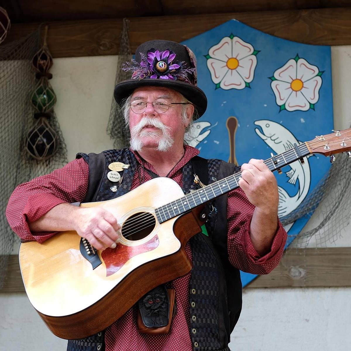 Entertainment: Eddie Jeff Cahill musician minstrel