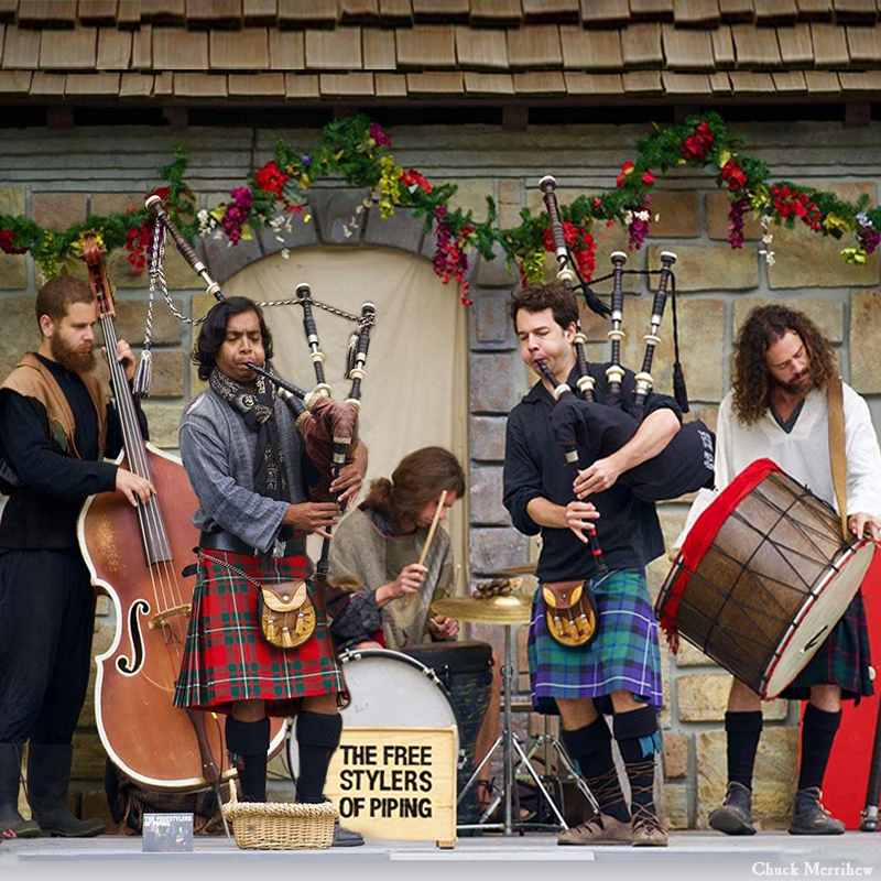 Entertainment: The Freestylers of Piping musicians bagpipes