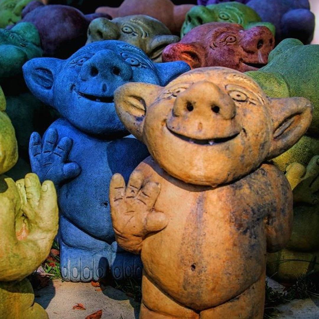 Artisan Marketplace vendor: Garden Gothic Stoneware Planters & Trolls