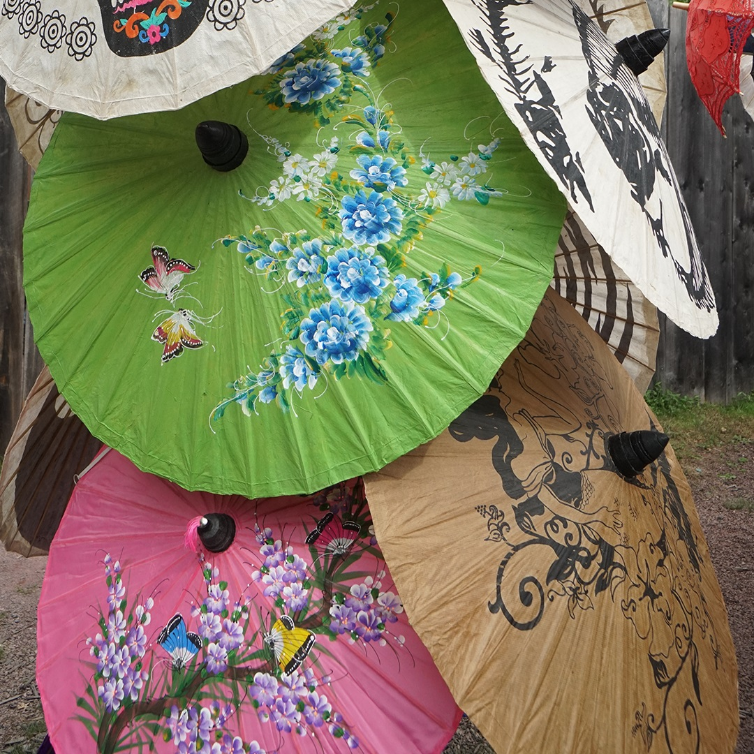 Artisan Marketplace vendor: guilded parasol Painted Parasols