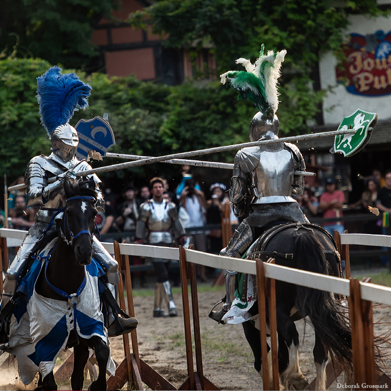 Entertainment: The Jousters knight charge horses