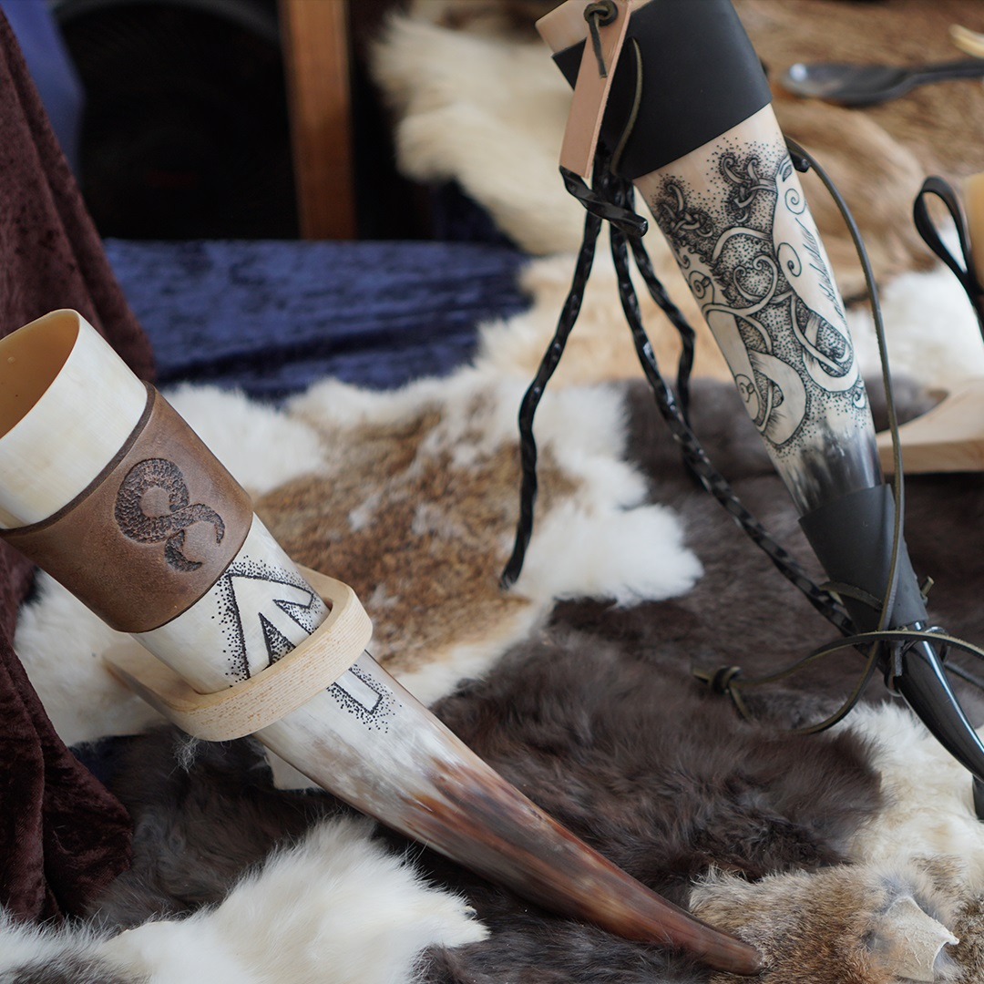 Artisan Marketplace Merchant Vendor: Valhalla Horns Drinking Horns, Blowing Horns and Horn Wear