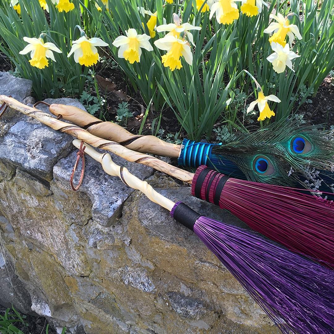 Artisan Marketplace Merchant Vendor: Wanderer's Wood Walking Sticks, Brooms, Wands & Canes