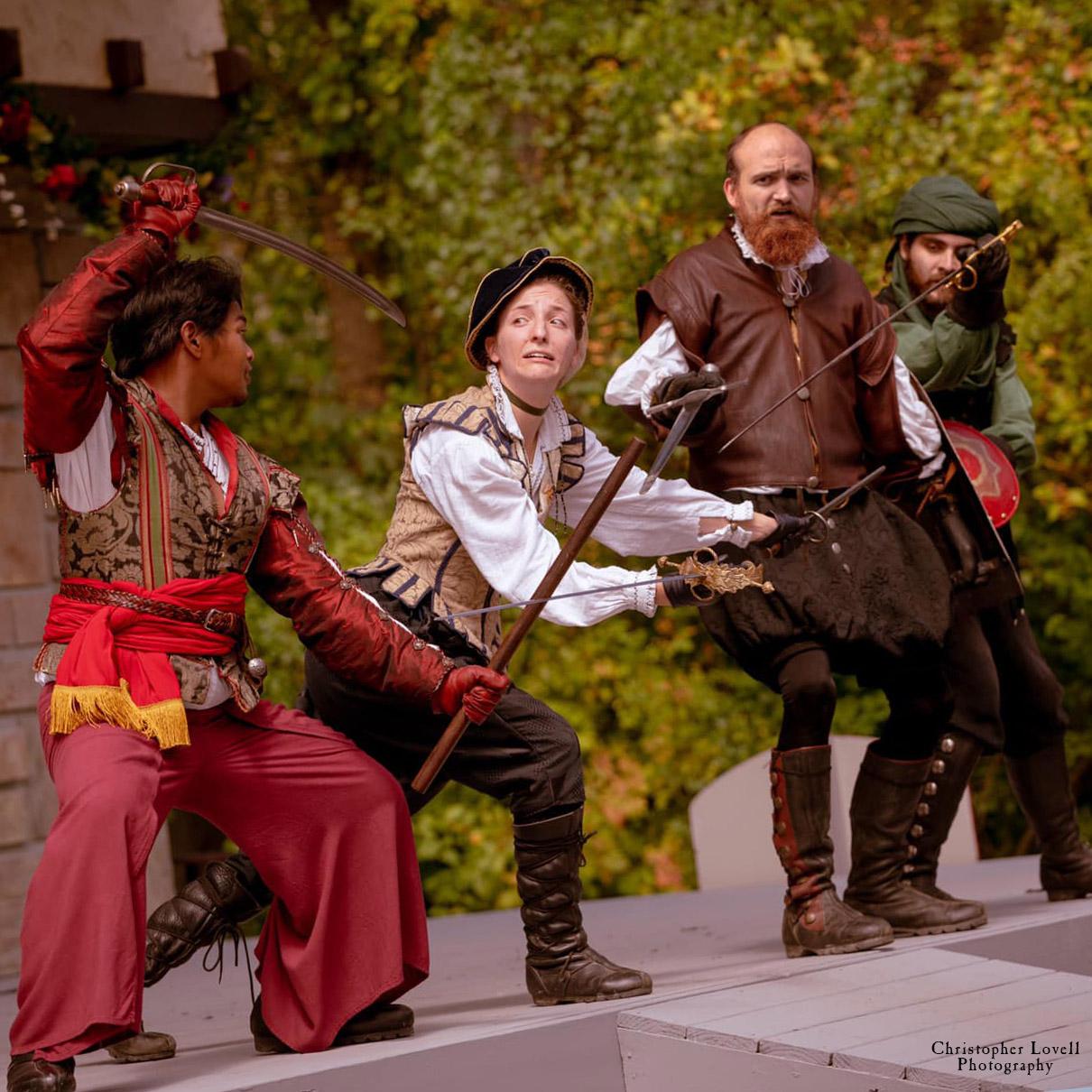 Entertainment: The Four Swords historical combat comedy