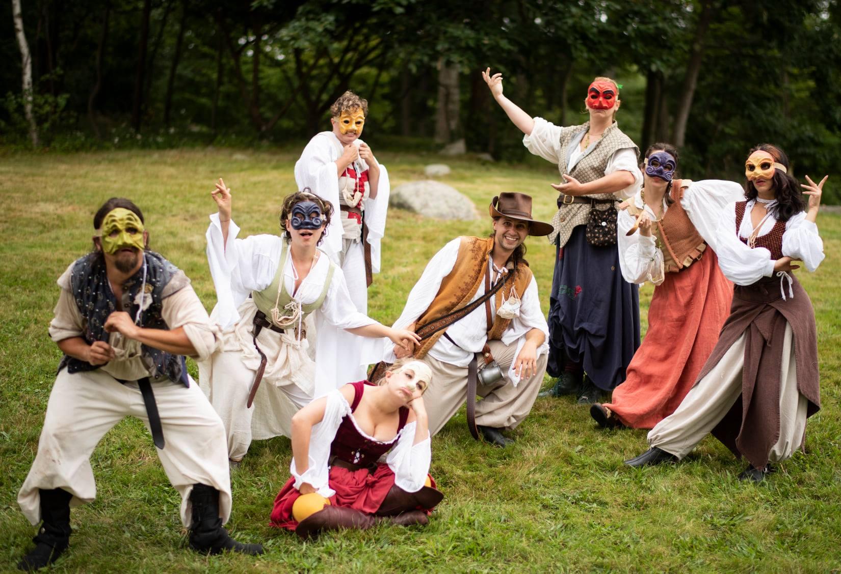 Entertainment: Commedia della arte improv performers sketch comedy
