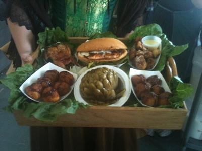 Food: Quail Inn cheese fritters artichoke salmon mushrooms