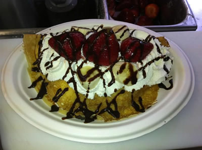 Food: Willow's Fare crepe with fruit