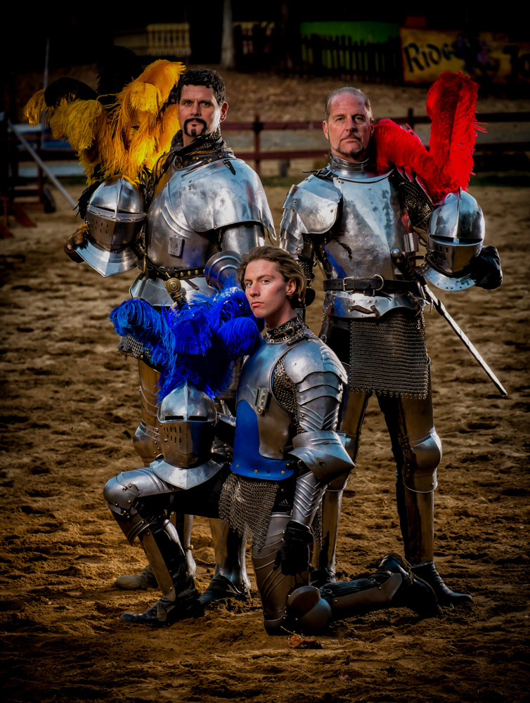 The Jousters, Three Knights, Entertainment