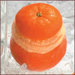 food: fruit ice orange sorbet