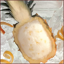 food: fruit ice pineapple sorbet