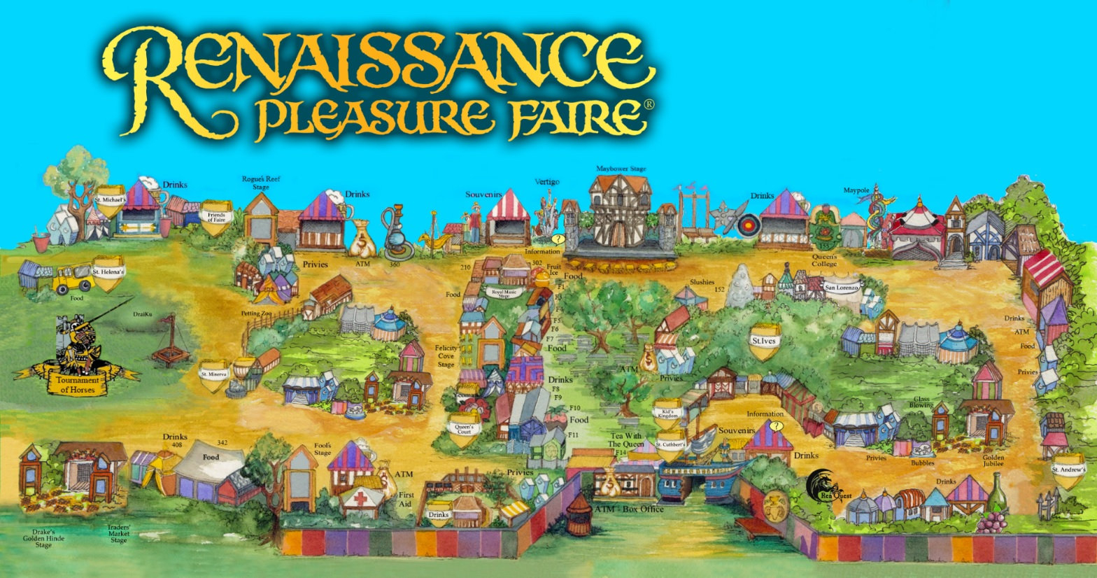 Irwindale California Map.Map Of The Faire The Original Renaissance Pleasure Faire