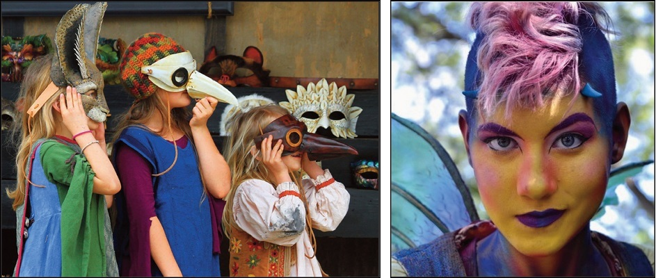 marketplace: children wearing leather masks, Entertainment: Dragon Fairy Fantastikal
