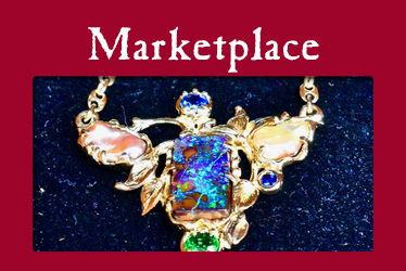 logo: Marketplace photo: gold necklace with opal