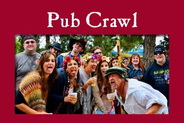 logo: Pub Crawl photo: pub crawl guests drinking