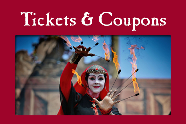 logo: Tickets and Coupons photo: Serendipity Clan Tynker eating fire