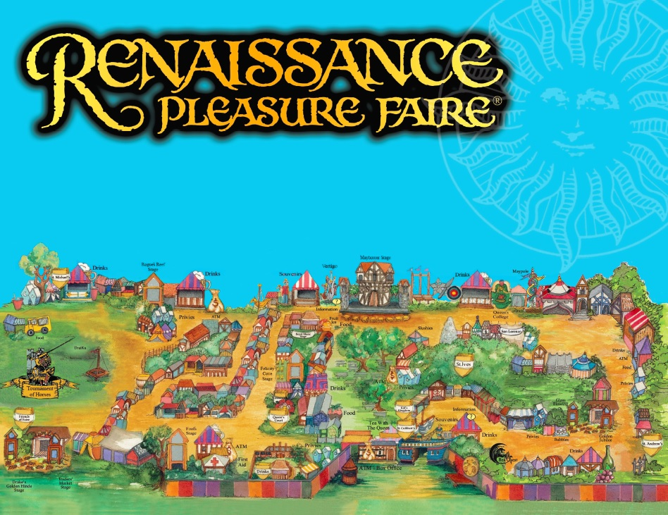 2019 Map of the Renaissance Pleasure Faire