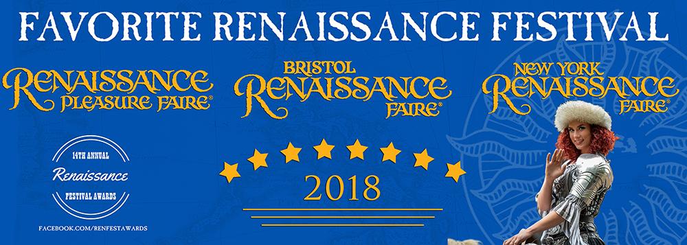 banner: Renaissance Festival Winners 2018